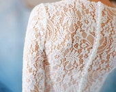 Orion // Lightweight wedding gown - Chiffon wedding dress - Lace wedding dress - Long sleeves wedding - Long sleeved wedding dress