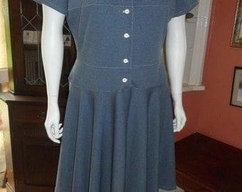 Plus Size Full circle dress Size L 22/24