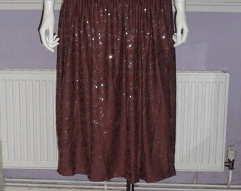 Plus Size Belly Dancing Sequined Skirt Size 22.24