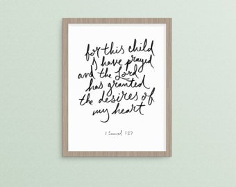 For This Child I Have Prayed  1 Samuel 1:27      religious christian nursery