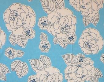 Aqua and White Peony-Baby/ Toddler Crib Sheet-Fitted Crib Sheet-Sheets- Bedding-Nursery-