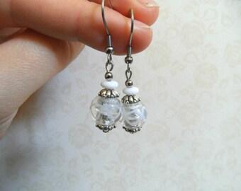 Wedding earrings, White Earrings Bridal, bridal earring, bride earring, bridal jewels, wedding jewels, boho wedding earring