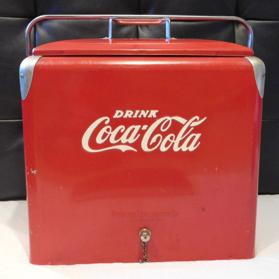 coca cola cooler vintage coke portable ice chest progress. Black Bedroom Furniture Sets. Home Design Ideas
