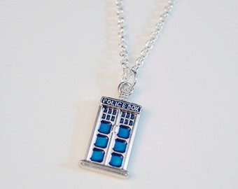Doctor Who Police Box Necklace!