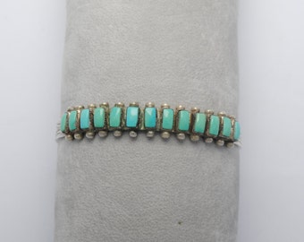 Zuni turquoise cuff and sterling silver
