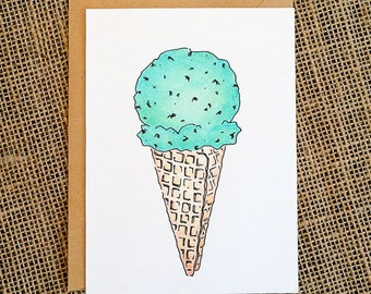 Ice cream card. Just because. For anyone.