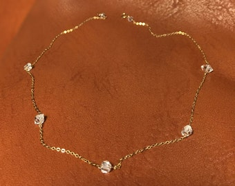 Herkimer Diamond Necklace Special DEAL Necklace with Raw Natural Stones Gold Filled Handmade Necklace Gold Diamond Necklace Quartz Necklace