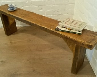 FREE DELIVERY! 5ft Hand Made Reclaimed Old Pine Beam Solid Wood Dining Bench