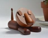 Vintage Royal Pet / LION / Japanese authentic modern wooden animal / Kay Bojesen style / Danish