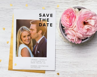 Save The Date / Chic Wedding / Classy Save The Date / Digital File / Print Available Upon Request