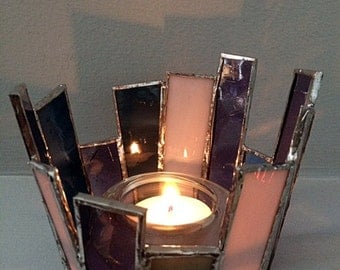 Stained Glass Votive Holder