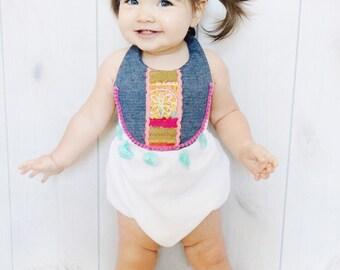 Bohemian Babe Sunsuit Romper Baby/Toddler