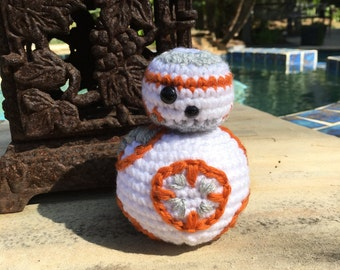 Star Wars - The Force Awakens BB-8 Amigurumi, hand crocheted