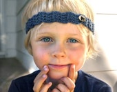 Blackbird Baby Boy Headband by BoyBandz/ Bird Baby Crochet Headband / Newborn Headband / Boy or Girl Hairband / Baby Accessory with Button