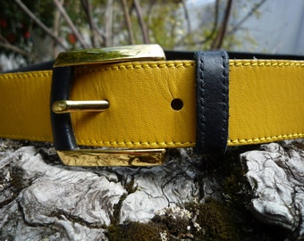 "28"" Hindleder: Piel de Torro German belt and buckle or 76 cm."