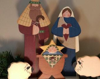 Tall Christmas Nativity Set