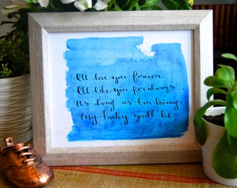 I'll Love You Forever Wall Art Print 8x10