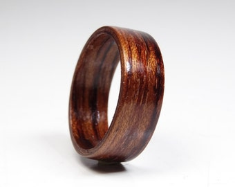 Wood rings from Bubinga  // wooden ring // Bentwood Ring // Alternative engagement ring // wedding wooden ring // Precious wooden jewelry