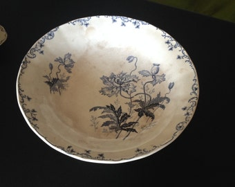 French Compote Dish French Sweet Dish French Table Art Antiquity Terre de Fer Iron stone french faience cake stand 1800