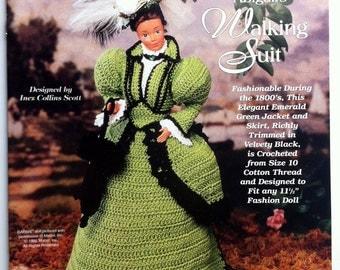 Abigail's Walking Suit Ladies of Fashion, crochet Barbie doll dress pattern, The Needlecraft Shop thread crochet pattern 952501.