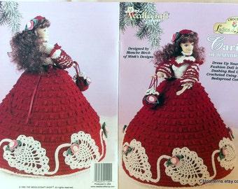 Ladies of Fashion Thread Crochet Barbie doll dress pattern, Cariss of Bainbridge, by The Needlecraft Shop 992550.
