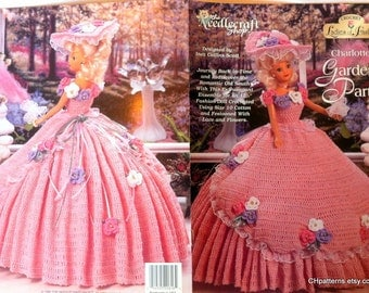 Charlotte's Garden Party Ladies of Fashion Thread Crochet Barbie doll dress pattern
