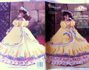 Denise of Albuquerque Ladies of Fashion Thread Crochet Barbie doll dress pattern