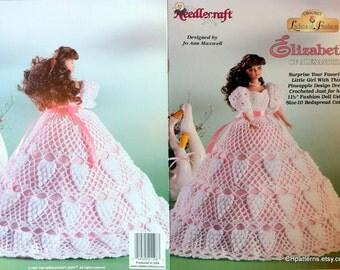 Elizabeth of Alexandria Ladies of Fashion Thread Crochet Barbie doll dress pattern