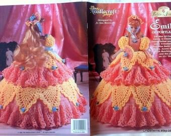 Emily of Portland, Ladies of Fashion Thread Crochet Barbie doll dress pattern. Design by Jo Ann Maxwell, The Needlecraft Shop book 982523.
