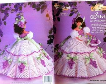 Silvia of Sacramento, Ladies of Fashion Thread Crochet Barbie doll dress pattern. Design by Jo Ann Maxwell, The Needlecraft Shop book 972519