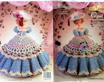 Opal of Montgomery, Ladies of Fashion Thread Crochet Barbie doll dress pattern.