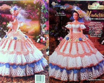Thread Crochet Barbie Ladies of Fashion doll dress pattern, Madeline of New Orleans.