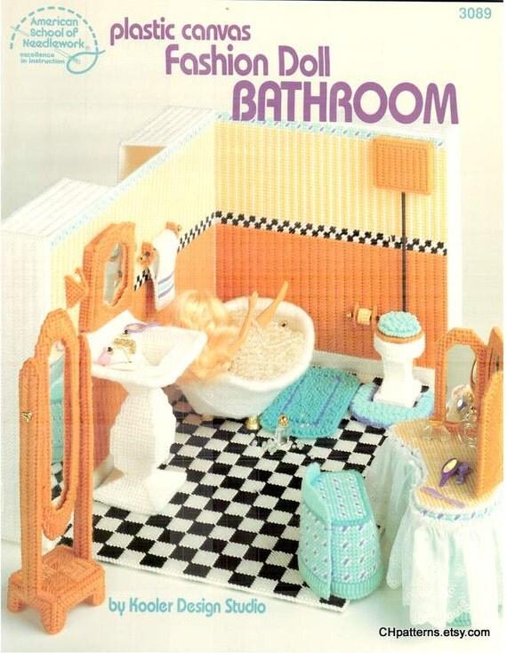 Moda muñeca de baño lona plástica patrón de mobiliario se