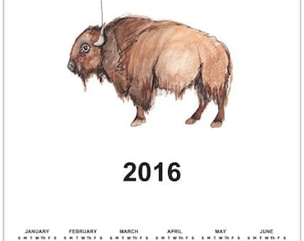 Bison and the Balloon Calendar