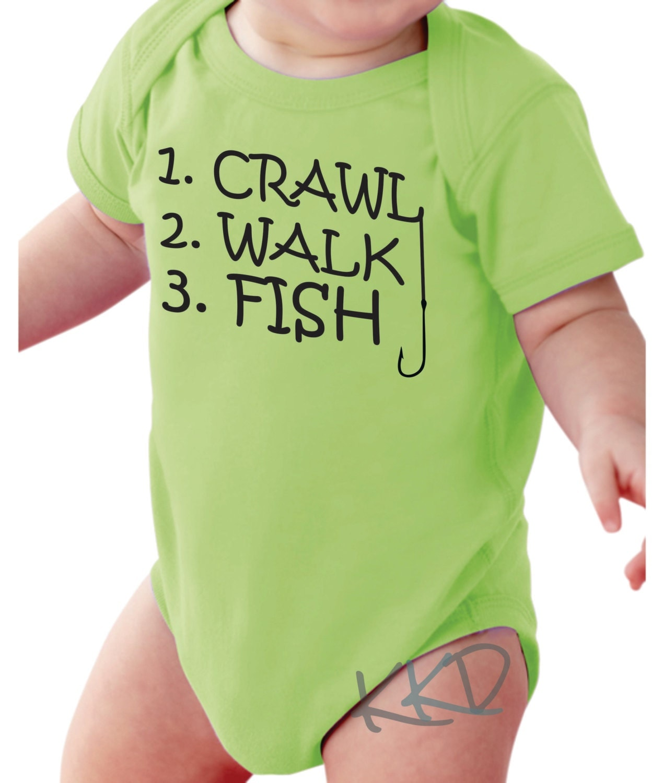 Fishing Green Baby Boy Onesie