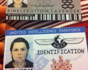 Personalised Doctor Who UNIT & Torchwood IDs