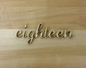 Laser cut wooden numbers