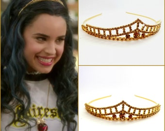 Disney Descendants Tiara , Evie Disney Descendants Crown,Descendants Headpiece Evie Headpiece ,Evie costume,Evie Gold Tiara ,Evie Gold Crown