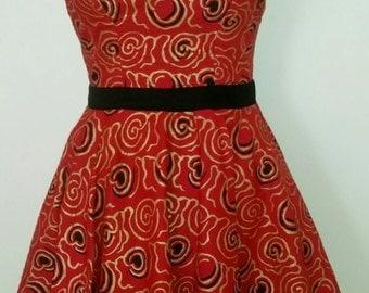 African Clothing: Tafie African Print Dress