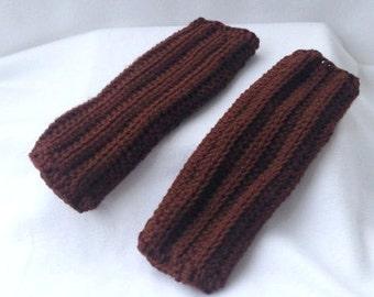 Fingerless Gloves, Armwarmers, Crocheted Fingerless Gloves, Crocheted Armwarmers, Brown Fingerless Gloves, Brown Armwarmers, Winter Wear