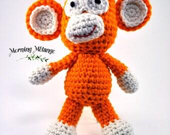 amigurumi monkey, crochet monkey, toy monkey, stuffed monkey, amigurumi animal, crochet animal, zoo animal, stuffed animal