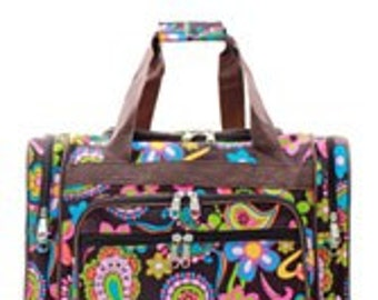Bright Paisley Duffel/Overnight Bag/Gym Bag - Personalized/Monogrammed