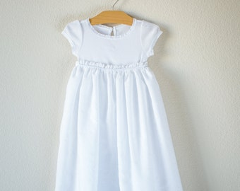 Ribbons and Lace Baby Girl Infant Baptismal Dress Christening Gown Simple Baptism