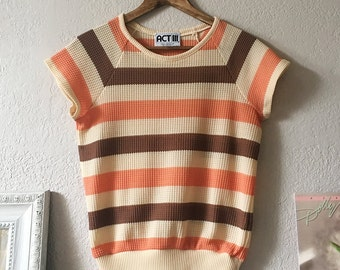 70s Striped Knit Shirt