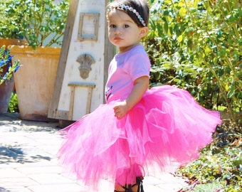 Choose your color tutu - Hot pink tea length tutu - mid length tutu - full tutu - baby tutu - pink tutu - first birthday tutu