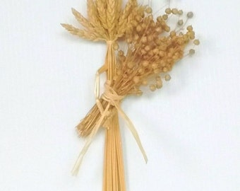 Wall Decor - Wheat Weaving - Springtime Maiden - straw - corn dolly - rustic - boho, folk art, wiccan, young girl, Blue Moon WheatWorks