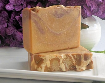 Pumpkin & Brown Sugar Scented Handmade Cold Process Soap, Artisan Bar Soap, Autumn Fall Brown Soap
