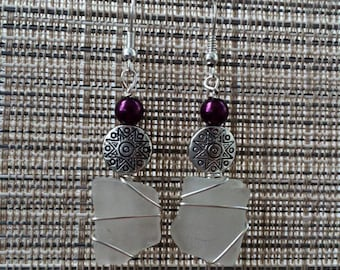 Handmade seaglass earrings