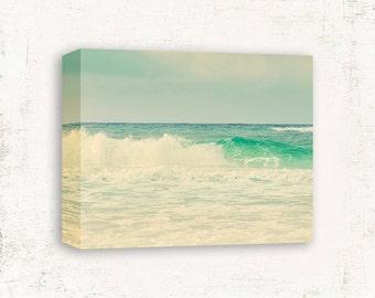 Ocean Wall Art, Ocean Wave Art, Vintage Beach Photo, Green Wall Art, Sea foam Green Art, Jade Green Decor, Ocean Wall Decor, Ocean Print