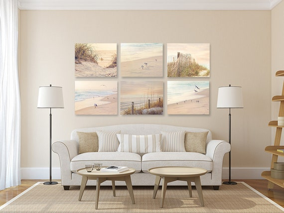 Coastal Wall Decor: Coastal Wall Art Shabby Chic Beach Decor SET Of SIX Prints Or